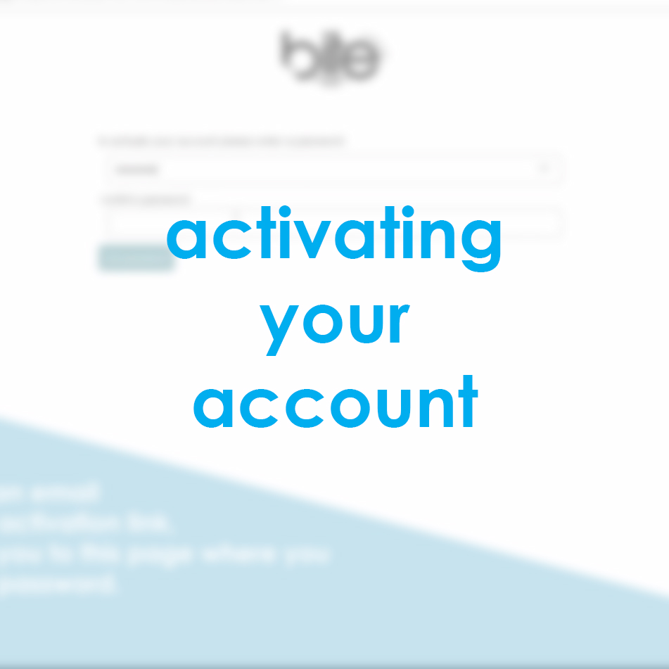activating your account